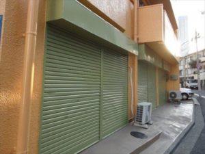 1階 店舗 シャッター塗装工事