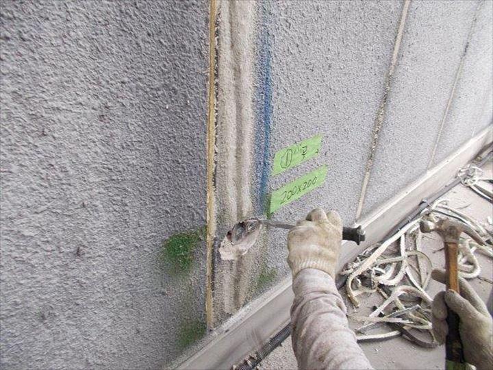 外壁爆裂補修