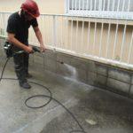 土間コンクリート洗浄