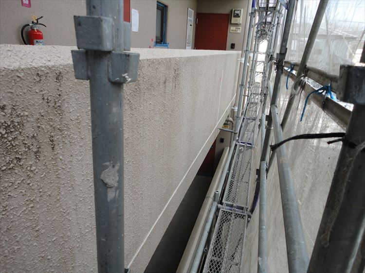 共用廊下手摺壁(外壁) 塗装