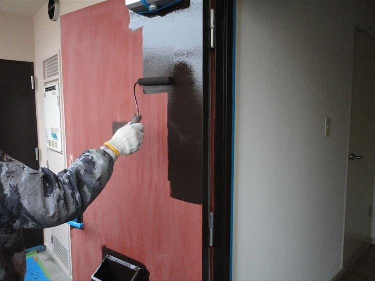 玄関扉(スチールドア) 塗装