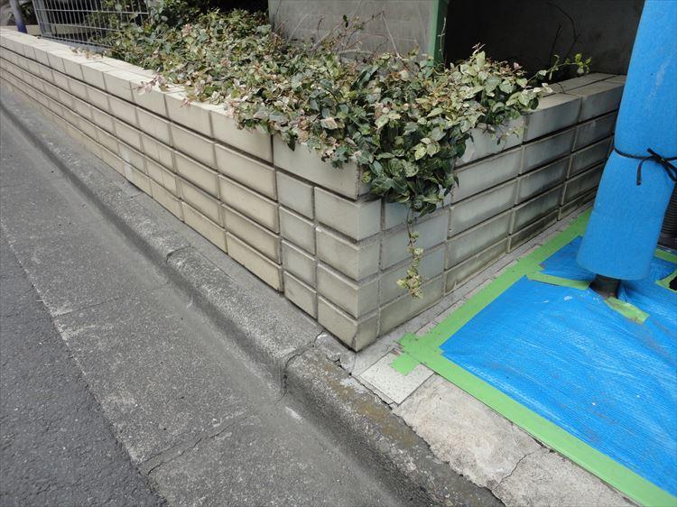 エントランス花壇タイル 楽品洗浄