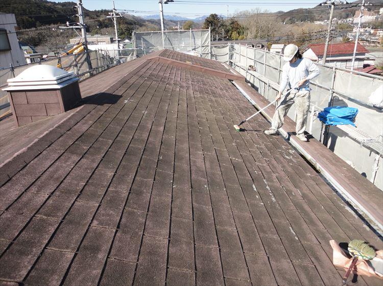 アスファルトシングル屋根 下地清掃