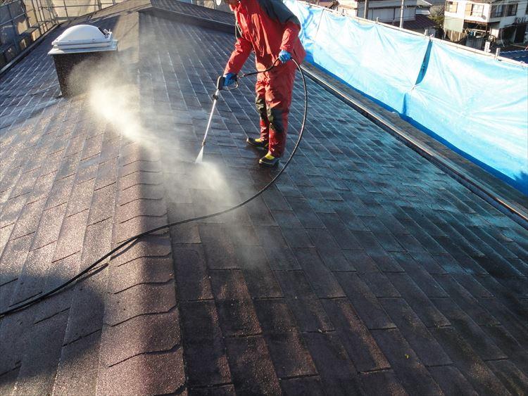 アスファルトシングル屋根 高圧洗浄