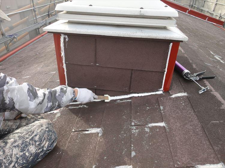アスファルトシングル屋根 端部シーリング