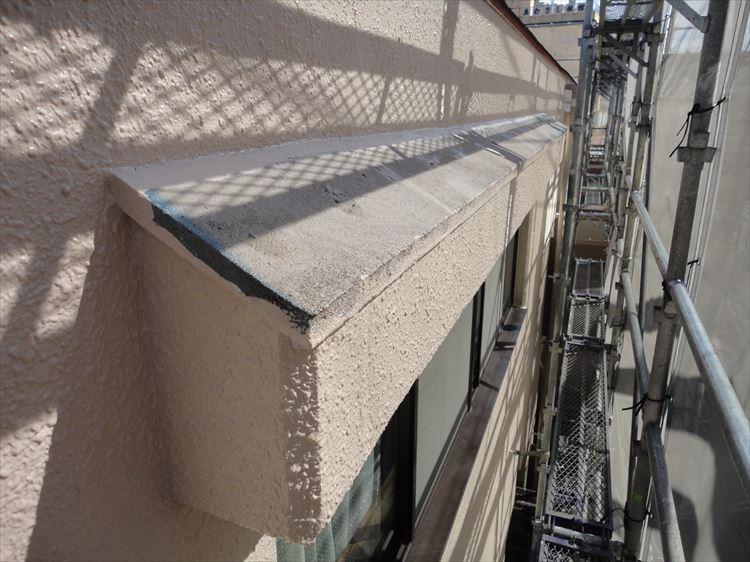 庇屋根 防水工事