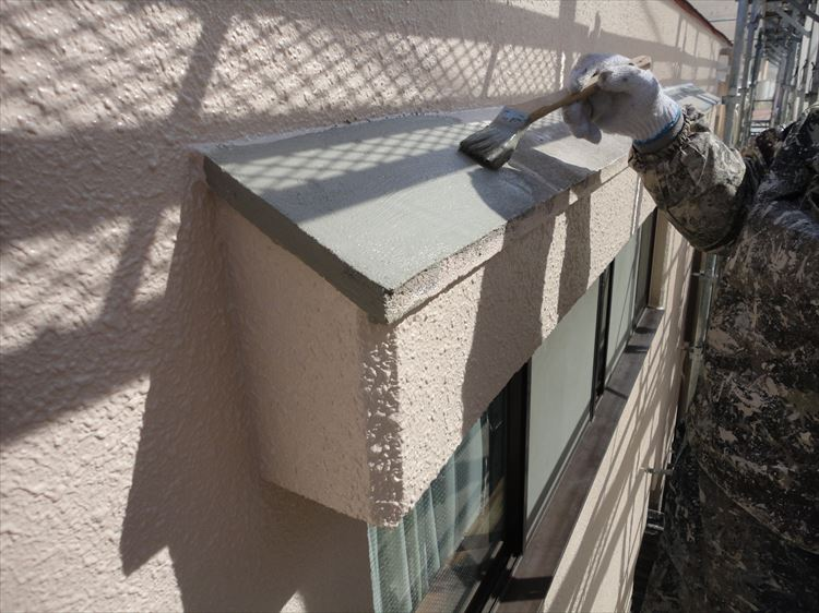 庇屋根 防水工事 下地調整
