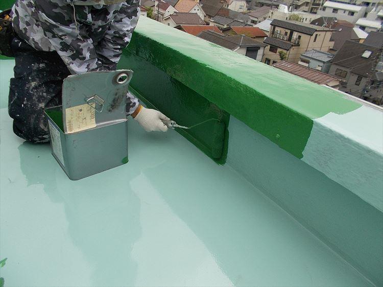 屋上防水 ウレタン塗膜防水密着工法