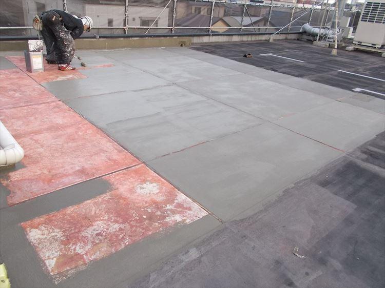 屋上防水工事 下地調整仮防水