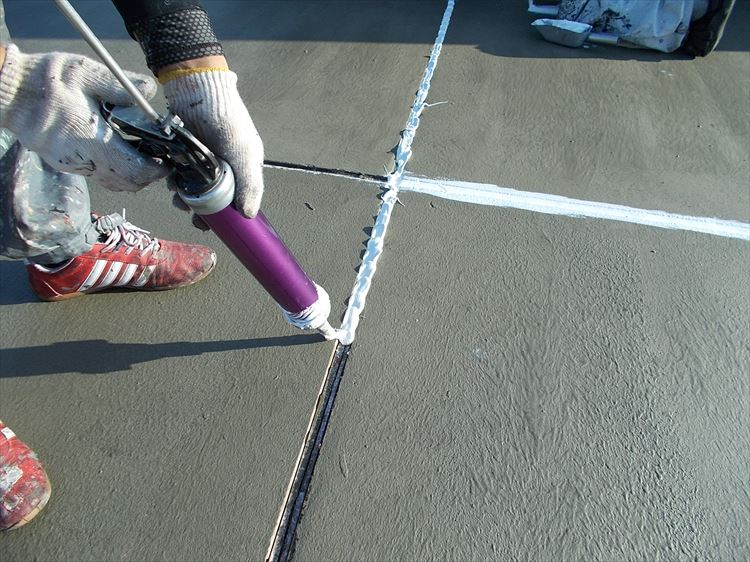 屋上防水工事 新規シーリング充填
