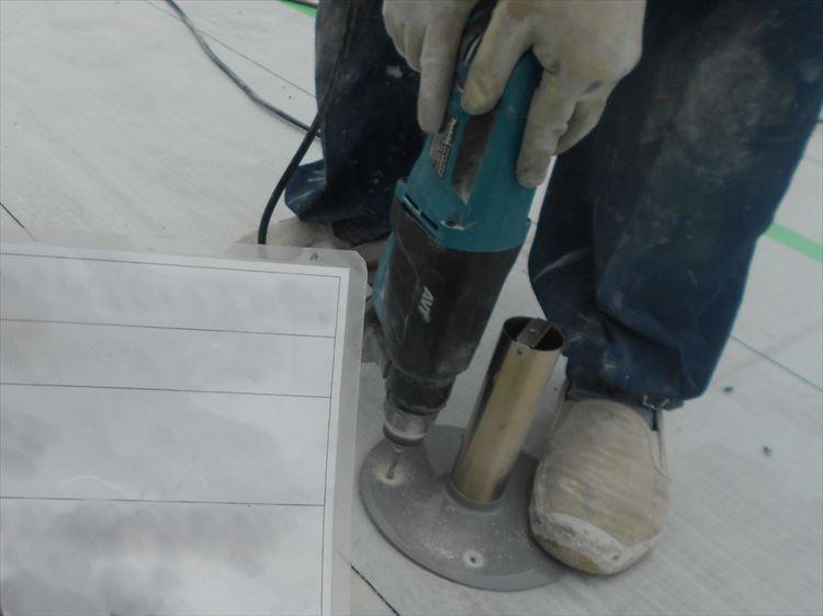 屋上防水工事 脱気筒取付