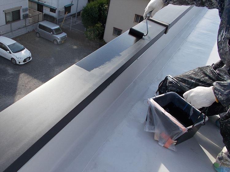 屋上笠木塗装