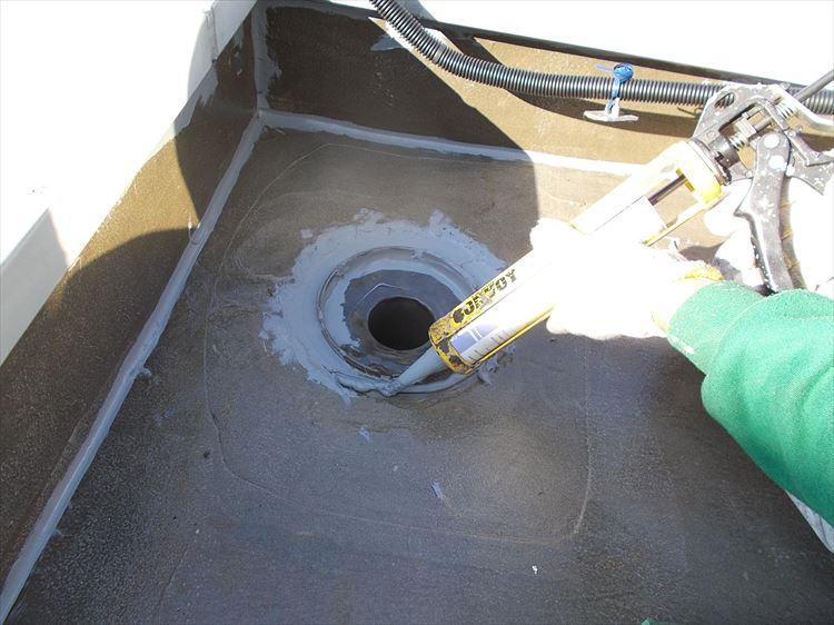 ウレタン塗膜防水 ドレン改修