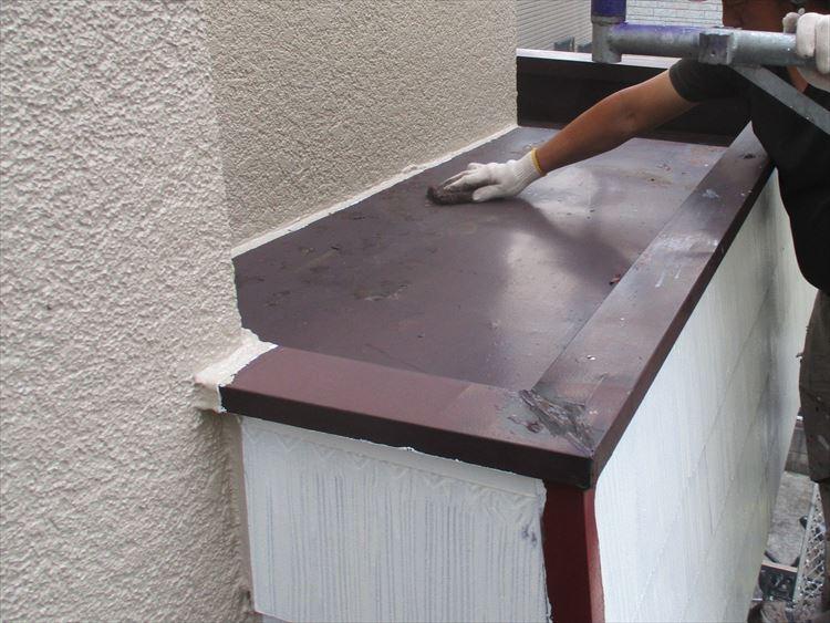 玄関庇 塗装