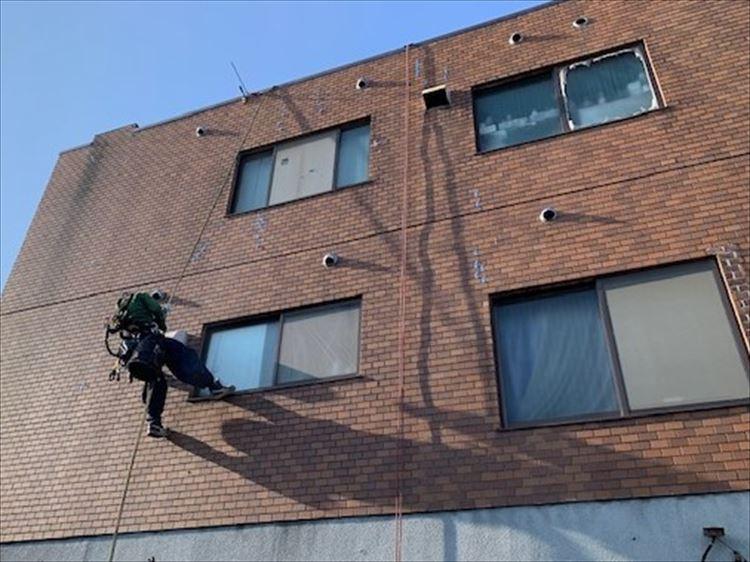 無足場ブランコ工法 外壁補修