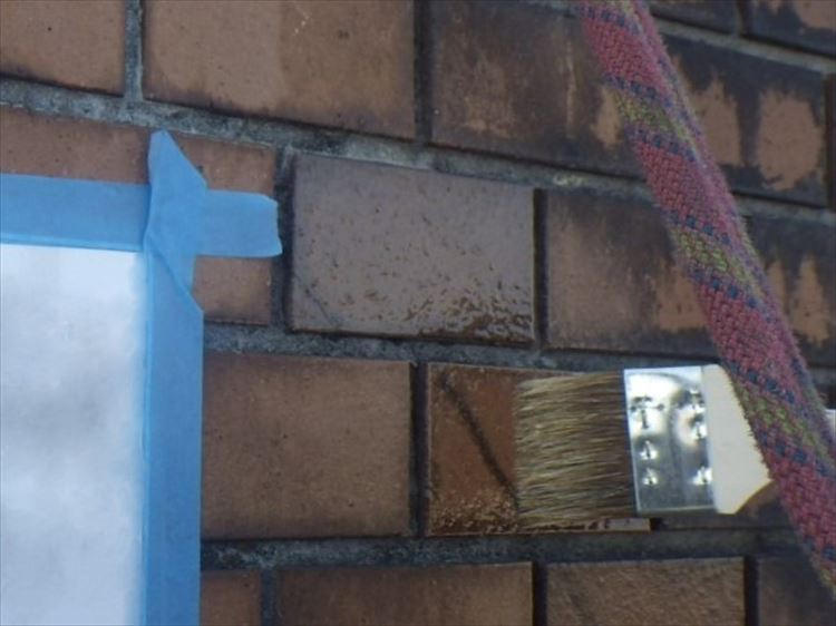 雨漏り補修工事 外壁タイル割れ補修
