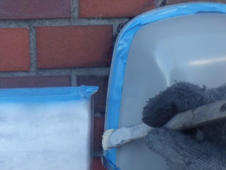 雨漏り補修工事 丸形フード交換、シーリング